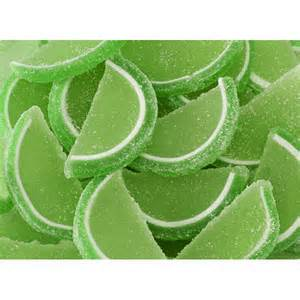 Fruit Sliced Gels - Lime