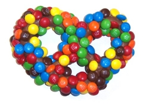 Milk Chocolate M&M Pretzels