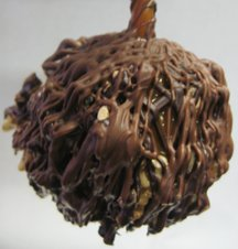 Milk Chocolate Apples rolled in Walnuts